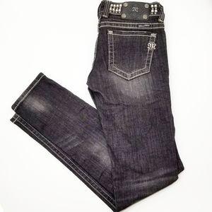 Miss Me Modelo skinny Jeans sz 27 Stud Rhinestone